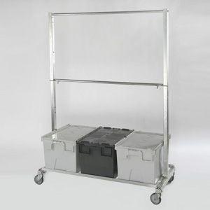 Tote Box Compatible Garment Rail
